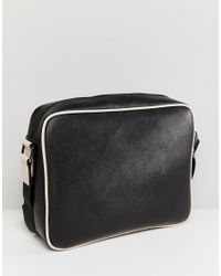 Ted Baker - Black Embossed Jaykay Messenger Bag for Men - Lyst