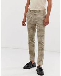 Pantalon skinny à carreaux style traditionnel River Island pour homme en coloris Brown