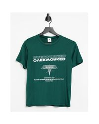 Adolescent Clothing Green Lounge Overworked T-shirt