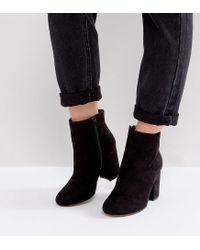 ASOS Black Asos Raquel Wide Fit Ankle Boots