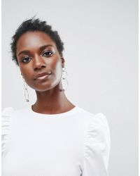 ASOS White Crepe Mini Dress With Puff Sleeves