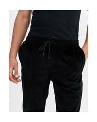 Pantaloni neri easy-on a coste di New Look in Black da Uomo