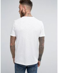 Jack & Jones White Vintage T-shirt With Split Neck Detail for men