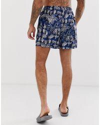 Short SELECTED pour homme en coloris Blue