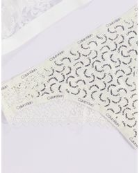 Кремовые Бразильские Трусы С Логотипом -кремовый Calvin Klein, цвет: White