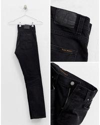 Vaqueros tapered Nudie Jeans de hombre de color Black