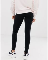 Leggings con logo laterale di Kappa in Black