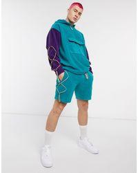 Узкие Флисовые Шорты От Комплекта ASOS для него, цвет: Green
