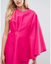 ASOS - Blue One Shoulder Mini Dress - Lyst