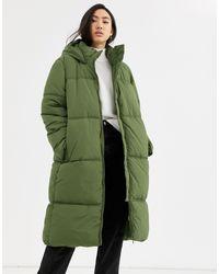 Weekday Green Robin Padded Coat