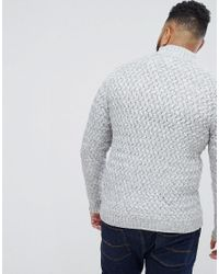 Only & Sons - Black Knitted Sweater With High Neck for Men - Lyst