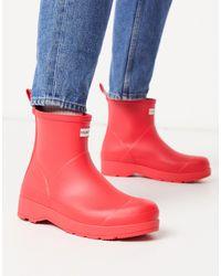 Hunter Red Original Play Short Gumboots for men
