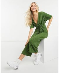 Зеленый Комбинезон С Завязкой Сбоку И Звериным Принтом -многоцветный Oasis, цвет: Green