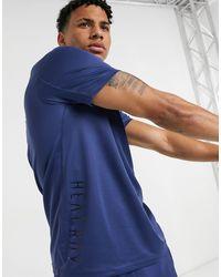 Футболка Цвета Индиго С 3 Полосками Training Heat.rdy-синий Adidas для него, цвет: Blue