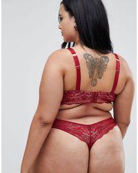 ASOS DESIGN Curve - Ella - Soutien-gorge à armatures en dentelle ASOS en coloris Red