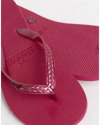 Gandys Red Slim Line Flip Flops