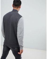 Barnsley - Veste de survêtement en molleton color block à fermeture éclair - Gris foncé Jack Wills pour homme en coloris Gray