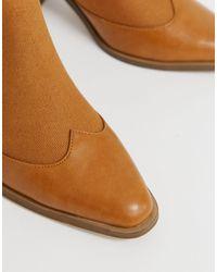 Botines color tostado tipo western Ripley ASOS de color Brown