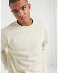 Светло-бежевый Свитшот New Look для него, цвет: Natural