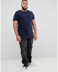 Camiseta orgánica en azul marino con cuello redondo ASOS de hombre de color Blue
