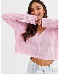 Розовый Кардиган На Пуговицах New Look, цвет: Pink