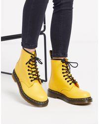 Желтые Кожаные Ботинки 1460-желтый Dr. Martens, цвет: Yellow