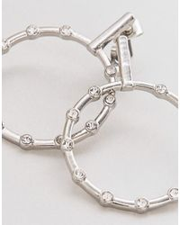 Nylon - Metallic Hoop Earrings - Lyst