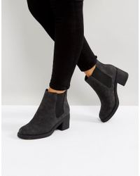 Office Black Apple Faux Fur Lined Boots