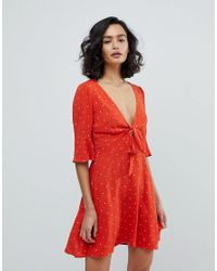 Free People - Red All Yours Spot Mini Dress - Lyst
