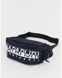 Napapijri Blue Happy Bum Bag In Navy for men
