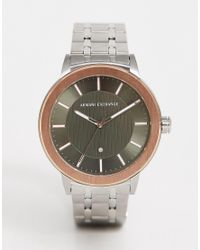 AX1470 Maddox - Montre-bracelet 46 mm Armani Exchange pour homme en coloris Metallic