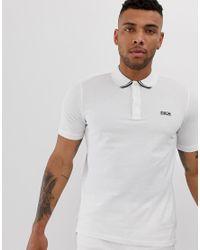 HUGO Dyler - Weißes Polohemd mit Zierblende in White für Herren
