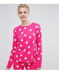 Sweat-shirt à motif étoiles ASOS en coloris Pink