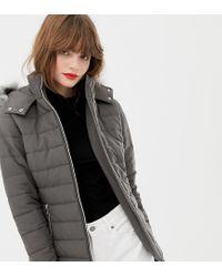 New Look Gray Wattierter Mantel