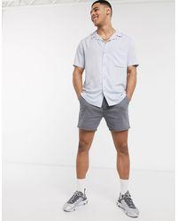 Camisa azul claro Topman de hombre de color Multicolor