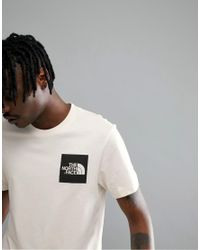 The North Face Fine T-shirt Square Logo Exclusive To Asos In Vintage White for men
