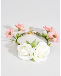 ASOS - White Wedding Flower Corsage Bracelet - Cream - Lyst