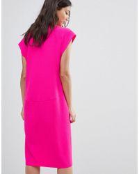 Traffic People Pink Midi Shift Dress