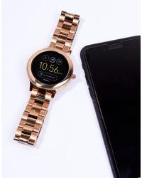Reloj inteligente en dorado rosa Venture Q FTW6000 Fossil de color Multicolor