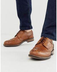 Светло-коричневые Кожаные Броги На Массивной Подошве Redfoot для него, цвет: Brown