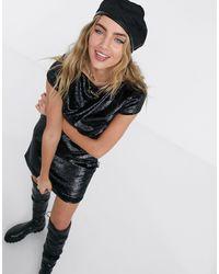 Love Moschino Black Metallic Mini Dress