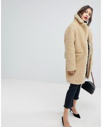 Whistles - Natural Ultimate Teddy Coat - Lyst