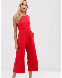 Closet - Combinaison jupe-culotte sans manches Closet en coloris Red