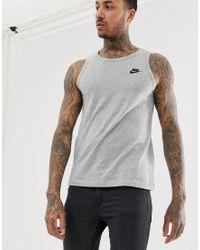 Club - Débardeur à logo Nike pour homme en coloris Gray