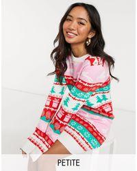 Платье-джемпер С Новогодним Принтом Узора Фэйр-айл -белый Brave Soul, цвет: Red