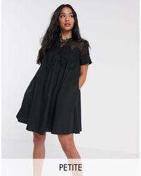 Y.A.S Petite Black Jarita Short Sleeve Smock Dress