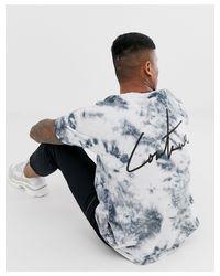 The Couture Club – Oversize-T-Shirt mit Batikmuster in Black für Herren