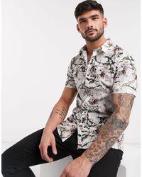 Chemise à imprimé oiseau - Écru River Island pour homme en coloris Multicolor