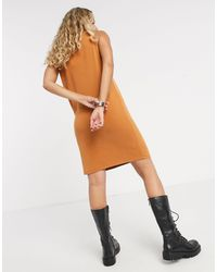 Object Multicolor Sleeveless Midi Casual Dress