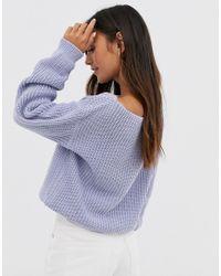 Jersey con cuello ancho Glamorous de color Blue
